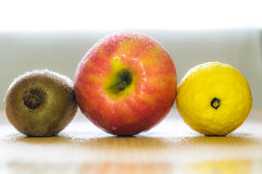 Three fruits Stock Image