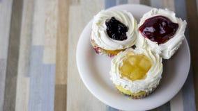Three fruits cake it is beatiful Royalty Free Stock Image