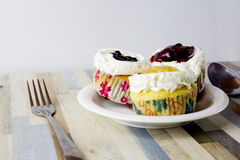 Three fruits cake it is beatiful Royalty Free Stock Photos