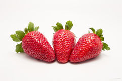 Three fruits strawberries Stock Photo