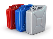 Three fuel container Royalty Free Stock Photo