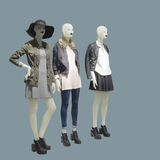 Three full-length female mannequins Royalty Free Stock Photography