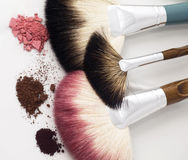 Three fun brushes - make up Stock Photo