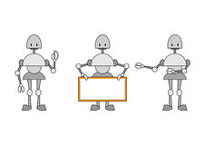 Three funky robots Royalty Free Stock Photos