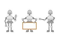 Three funky robots Royalty Free Stock Photos