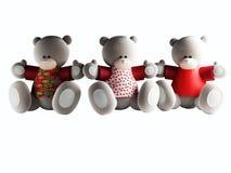 Three funny Bears Stock Photography