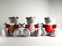 Three funny Bears Stock Images