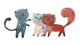 Three funny cats Royalty Free Stock Photo