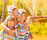 Three funny child Stock Photos