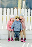 Three funny children Stock Photos
