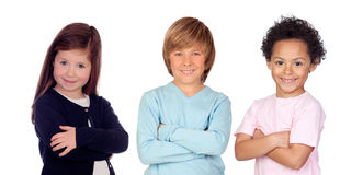 Three funny children Royalty Free Stock Photos