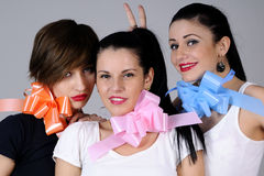 Three funny girls Royalty Free Stock Photo