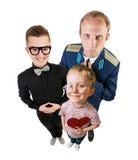 Three funny guys portrait Stock Photos