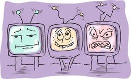 Three funny television Royalty Free Stock Photos