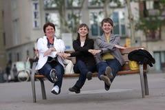 Three funny woman Stock Image