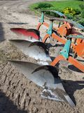 Three furrow plow 2 Royalty Free Stock Photos