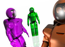 Three futuristic robots Royalty Free Stock Photography