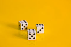 Three game dice Stock Photography
