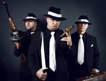 Three gangsters. Gangster gang Royalty Free Stock Image
