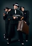 Three gangsters. Gangster gang Royalty Free Stock Photos