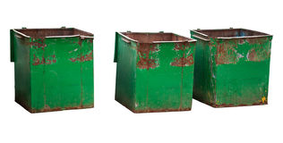 Three garbage containers Stock Photography