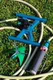 Three garden sprinklers. Royalty Free Stock Photos