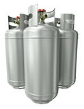 Three gas containers Royalty Free Stock Photo