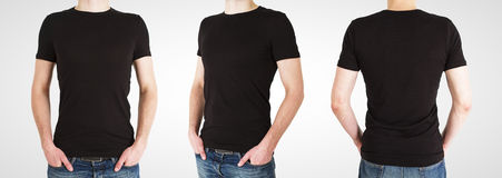 Three gay in black t-shirt Stock Images