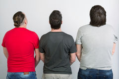 Three gay men are back Royalty Free Stock Images