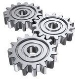 Three gear Royalty Free Stock Image
