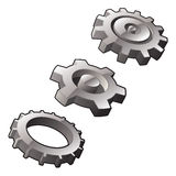 Three Gear Icons Royalty Free Stock Images