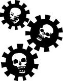 Three Gear Skulls Royalty Free Stock Image