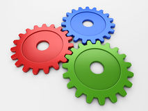 Three gear to place concepts Stock Images