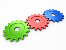 Three gear to place text Stock Photo