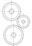 Three gears Royalty Free Stock Image