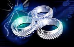 Three gears stock illustration