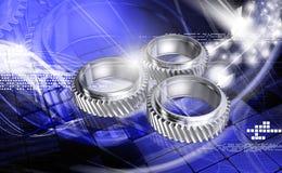 Three gears Stock Photos