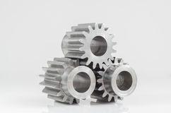 Three gears on isolated. Background Stock Photography