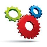 Three gears system. Stock Photo