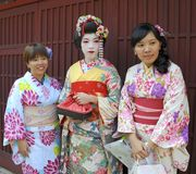 Three geishas Royalty Free Stock Photography