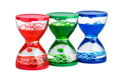Three gel hourglasses Royalty Free Stock Images