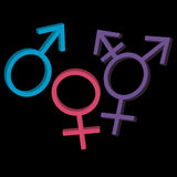 Three gender identities icons Royalty Free Stock Photo