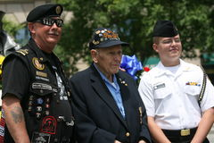 Three Generation. The Rolling Tunder gaters at the the Navy memorial in Washington Dc to honor fallen comrade as part ot the memorial day celebration Stock Image