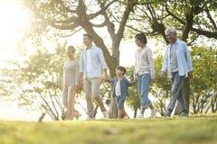 Free Three Generation Asian Family Walking In Park Stock Photography - 166580422