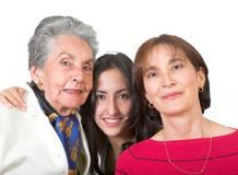 Three generation family Stock Photography
