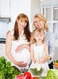 Three Generation Family Stock Photo