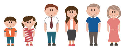 Three generation family. Person, s, three generation family stock illustration