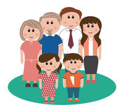 Three generation family. Person, s, three generation family royalty free illustration