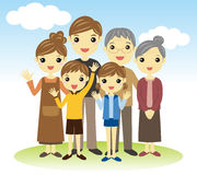 Three generation family Royalty Free Stock Images
