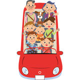 The three-generation family who goes for a drive Royalty Free Stock Images